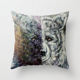 Abstract bear Throw Pillow