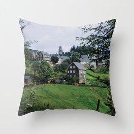 Nordenau im Sauerland, 1958 Throw Pillow