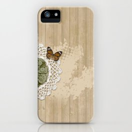 Butterfly on my wall iPhone Case