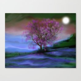 Tree in Moonlight Canvas Print