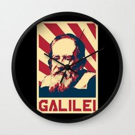Galileo Galilei Retro Propaganda Wall Clock