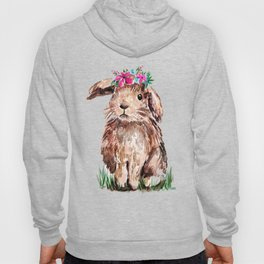 Bunny with Flower Crown Hoody