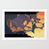 mother of dragons Art Prints featuring Mother of dragons by Ann Marcellino