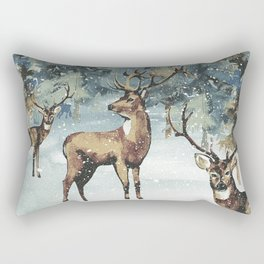 Winterly Forest 3 Rectangular Pillow