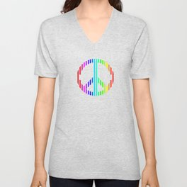 Techno Peace and Love Unisex V-Neck