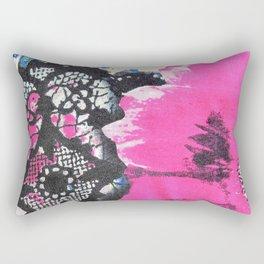 Pink Flower | fleur rose Rectangular Pillow