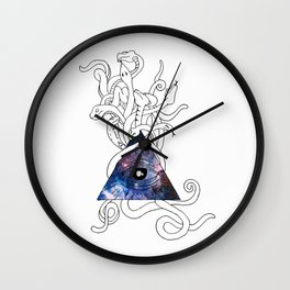 Space Snakes Wall Clock