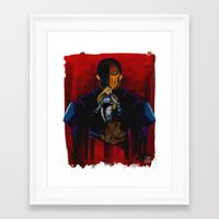 deathstroke Framed Art Prints featuring Evil Terra-forming With Deathstroke by Joshua M. Rhodes III