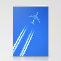 airplane Stationery Cards featuring Airplane by Uldis Ķēniņš