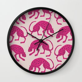 Wild Cats - Pink Wall Clock