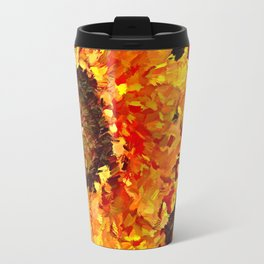 Sunflowers Abstracted Travel Mug