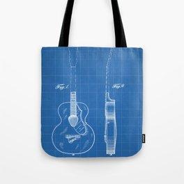Accoustic Guitar Patent - Classical Guitar Art - Blueprint Tote Bag