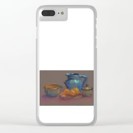 Pottery Composition Clear iPhone Case