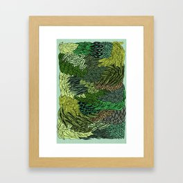 Leaf Cluster Framed Art Print