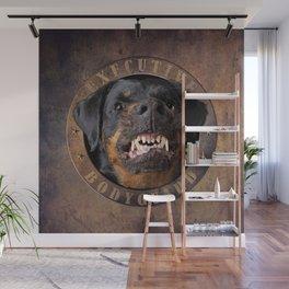 Executive bodyguard Angry rottweiler Wall Mural