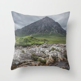 The Majesty of the Mountains Throw Pillow