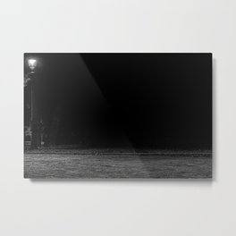 Path in the city park, night, black and white, St. Petersburg (Russia) (2018-7SPB99) Metal Print