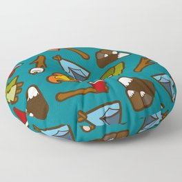 Camping is Cool Pattern Floor Pillow