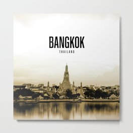 Bangkok Wallpaper Metal Print