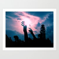 concert Art Prints featuring Concert by Leah Galant