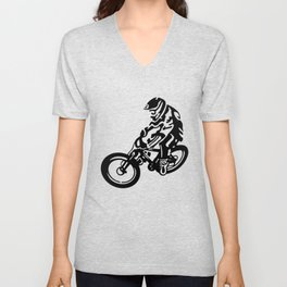 Mountain Bike Unisex V-Neck