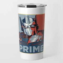 Optimus Prime Travel Mug