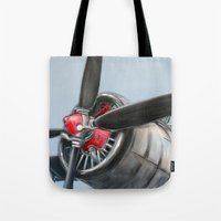airplane Tote Bags featuring Airplane by Renato Verzaro