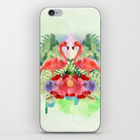 flamingo iPhone & iPod Skins featuring Flamingo by Kangarui by Rui Stalph