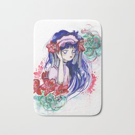 Sailor Mars Red Flower Bath Mat