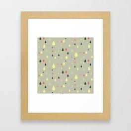 retro raindrops Framed Art Print
