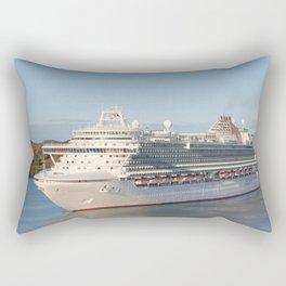 MS Azura Cruise Ship on Antigua Rectangular Pillow