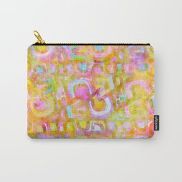 Rainbow Pastel Abstract Typography Watercolor Painting Carry-All Pouch