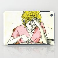 les mis iPad Cases featuring Enjolras studying Les Mis by Pruoviare
