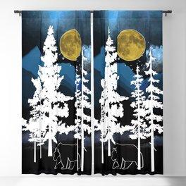 Full Moon Rising II Blackout Curtain