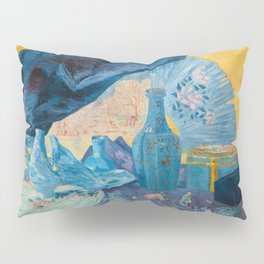 Harmonie en Bleu (Harmony in Blue) fans, china, flowers, shoes and shimmering clothes by James Ensor Pillow Sham