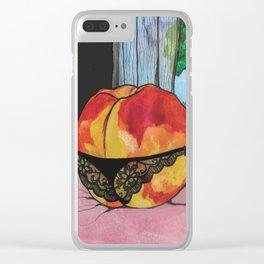 Peachy Keen Clear iPhone Case