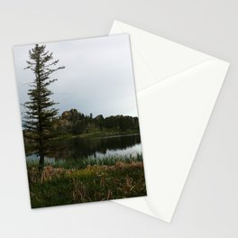 Moody Evening  At Sylvan Lake Stationery Cards