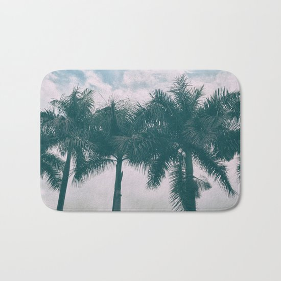 Palm Trees in tropical climate Bath Mat