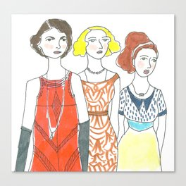 Grantham Sisters Canvas Print