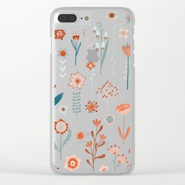 Flowers of the Summer Clear iPhone Case