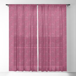 Bicycles in Pink Sheer Curtain