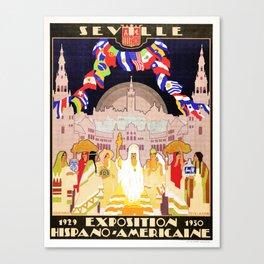 Seville Hispano American Expo 1929 art deco ad Canvas Print