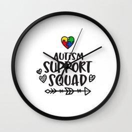 Autism, autism awareness, rainbow puzzle Wall Clock