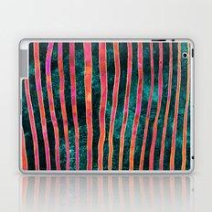 Pattern Play / Stripes on deep turquoise Laptop & iPad Skin
