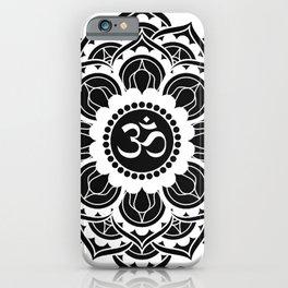 Black and White Mandala | Flower Mandhala iPhone Case