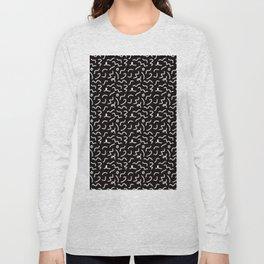 Postmodern Squiggles in Black + White Long Sleeve T-shirt
