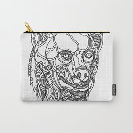 Brown Bear Head Doodle Carry-All Pouch