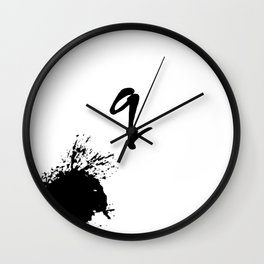 Monogram | q Wall Clock