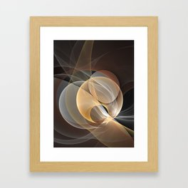 Brown, Beige And Gray Abstract Fractals Art Framed Art Print