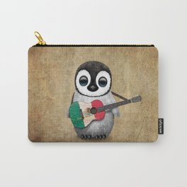 Baby Penguin Playing Mexican Flag Guitar Carry-All Pouch